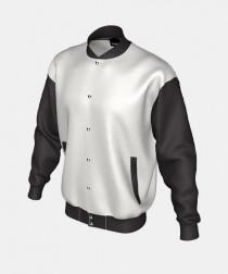 Adults Unisex Varsity Jacket with Pleather Sleeves